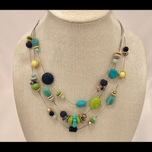 Chico's multicolored beaded necklace